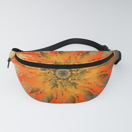 Blooming cactus. Bright orange flower blossoming poppy lilting background. Fanny Pack