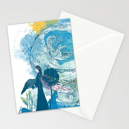i love my planet 2 Stationery Cards