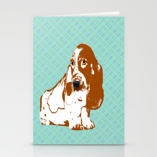 Basset Hound Dog Stationery Cards