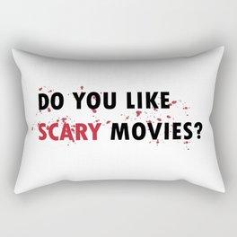 Scream: Do you like scary movies? Rectangular Pillow