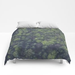 FOREST - TOP - VIEW - PHOTOGRAPHY Comforters