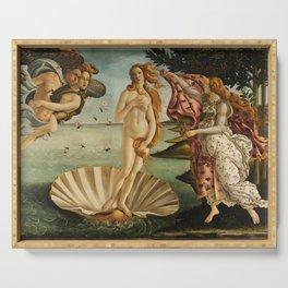 The Birth of Venus (Nascita di Venere) by Sandro Botticelli Serving Tray