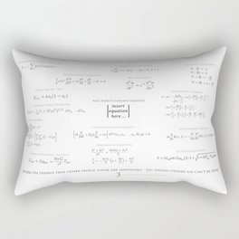 High-Math-Inspiration 01 - Black & Gray Rectangular Pillow