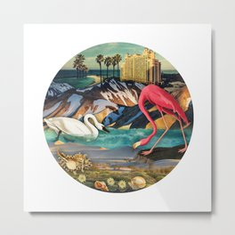 Birds of America :: Flamingo Hotel Metal Print