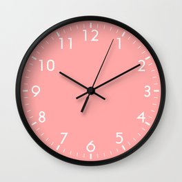 Coral Pink Wall Clock