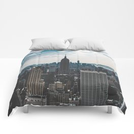 NEW YORK - CITY MANHATTAN - EMPIRE STATE BUILDING - PHOTOGRAPHY Comforters