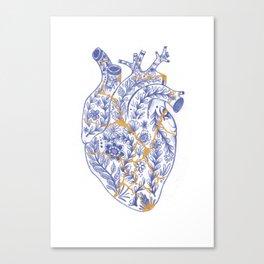 Kintsugi broken heart Canvas Print
