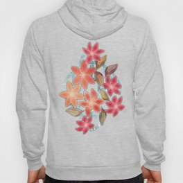 Cute Lilies and Leaves Hoody