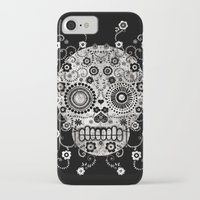 sugar skull iPhone & iPod Cases featuring Sugar Skull by Farnell