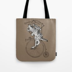 Steam Punk Tabby Cat Tote Bag
