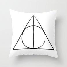The Deathly Hallows Throw Pillow