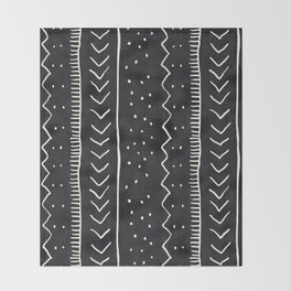 Moroccan Stripe in Black and White Throw Blanket