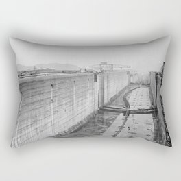 Panama Canal construction Rectangular Pillow