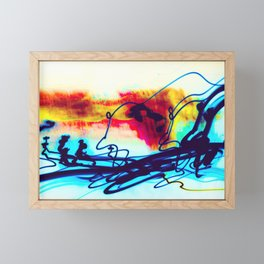 Light Painting Experiment 7 Framed Mini Art Print