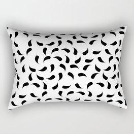 Black and White Modern Tear Drop Pattern Rectangular Pillow