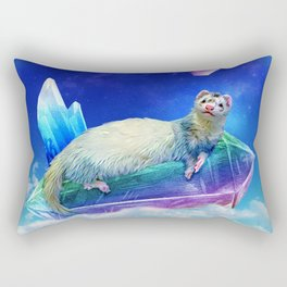 Ferret in the Sky with Crystals Rectangular Pillow