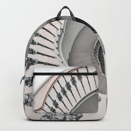 Pretty white spiral staircase Backpack