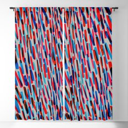 blue and red Blackout Curtain