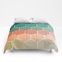 Colorful Hexagons Comforters