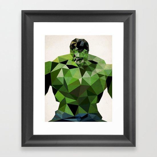 Polygon Heroes - Hulk Framed Art Print