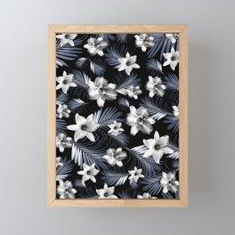 Tropical Flowers Palm Leaves Finesse #4 #tropical #decor #art #society6 Framed Mini Art Print