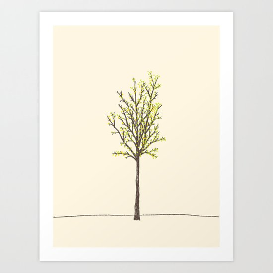 summer tree Art Print