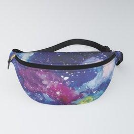 Galaxy Watercolor Fanny Pack