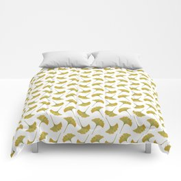 watercolour ginkgo Comforters