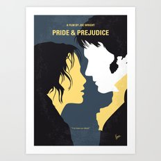 No584 My Pride and Prejudice minimal movie poster Art Print