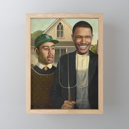 Frank & Tyler the Creator American Gothic Framed Mini Art Print