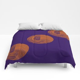 Sphere Geometry Night Abstract Comforters