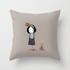 Autumn in my heart Throw Pillow