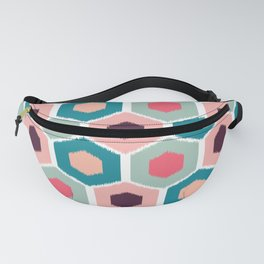 ikat honeycomb Pink #homedecor Fanny Pack