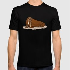 Pacific Walrus Black LARGE Mens Fitted Tee