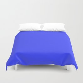 Blue Flat Color Duvet Cover