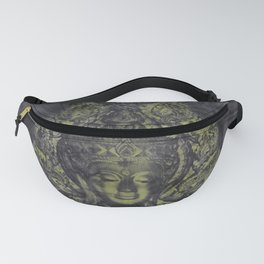 held in dark shadow Head of Buddha Fanny Pack