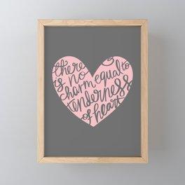 Jane Austen Emma Tenderness Heart Framed Mini Art Print