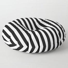 Stripe Black & White Vertical Floor Pillow