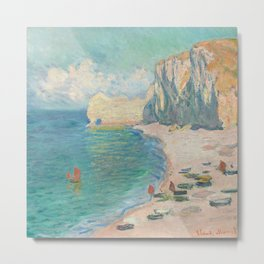 The Beach and the Falaise d'Amont by Claude Monet (1885) - Fine Art Collection Metal Print