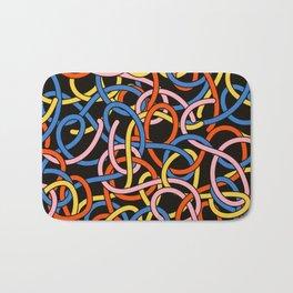 Knots - Memphis Milano Pasta Spaghetti Fork food graphic 80s 90s Kitchen Home Bath Mat