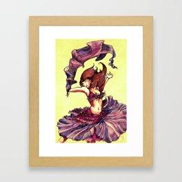 Magenta Dancer Framed Art Print
