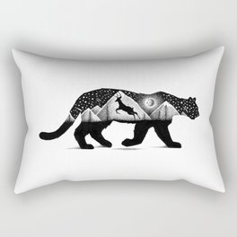 THE MOUNTAIN LION AND THE DEER Rectangular Pillow
