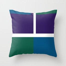 funky vintage Throw Pillow