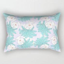 Fern-tastic Girls in Teal + Periwinkle Rectangular Pillow