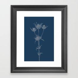 Milk Thistle Blueprint Framed Art Print