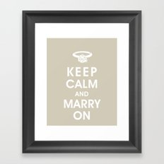 Keep Calm and Marry On Framed Art Print