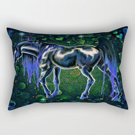 Blue Love Horse Rectangular Pillow