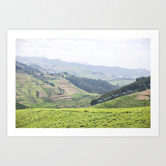 land of a thousand hills::rwanda Art Print