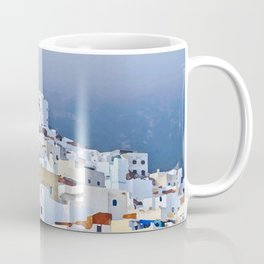 Spectacular view of Tetouan Morocco, watercolor painting of a tourist town, vacation clip art Coffee Mug
