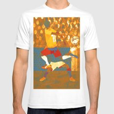 Soccer game. White MEDIUM Mens Fitted Tee